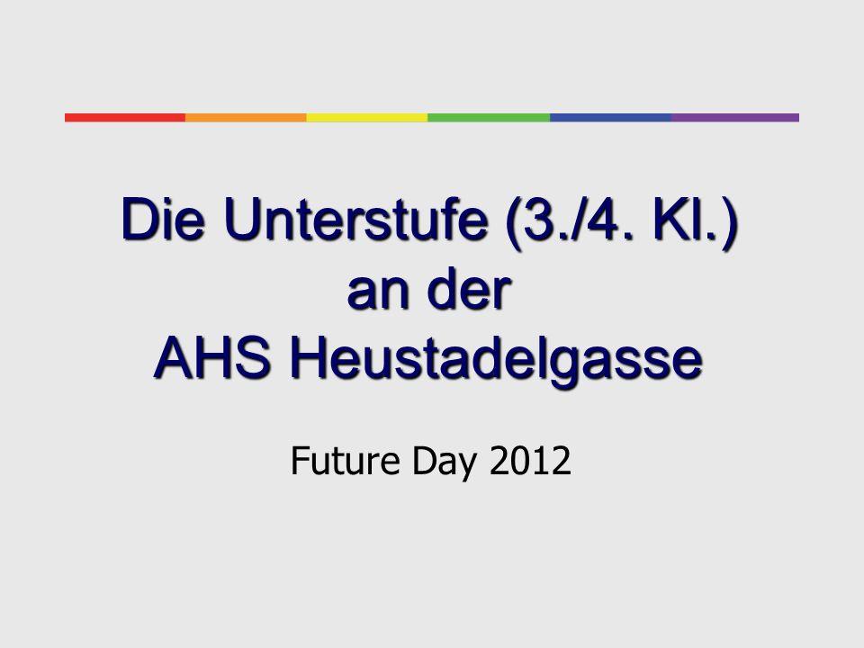 Die Unterstufe (3./4. Kl.) an der AHS Heustadelgasse