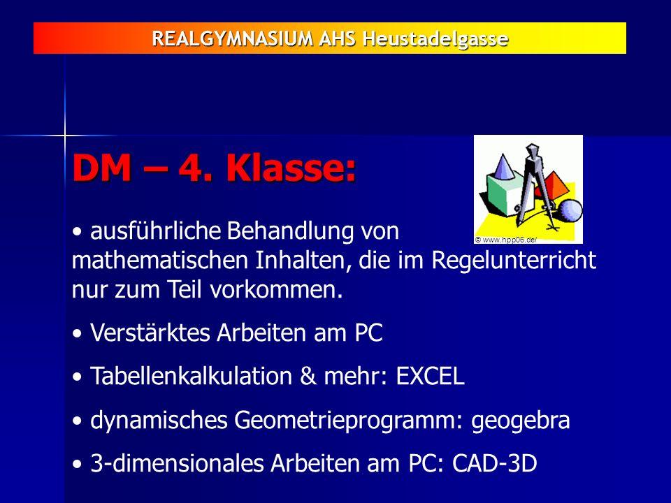 DM – 4. Klasse: ausführliche Behandlung von mathematischen Inhalten, die im Regelunterricht nur zum Teil vorkommen.