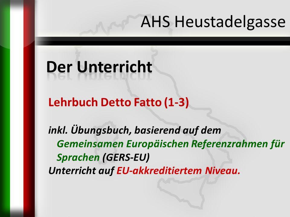 AHS Heustadelgasse Der Unterricht Lehrbuch Detto Fatto (1-3)