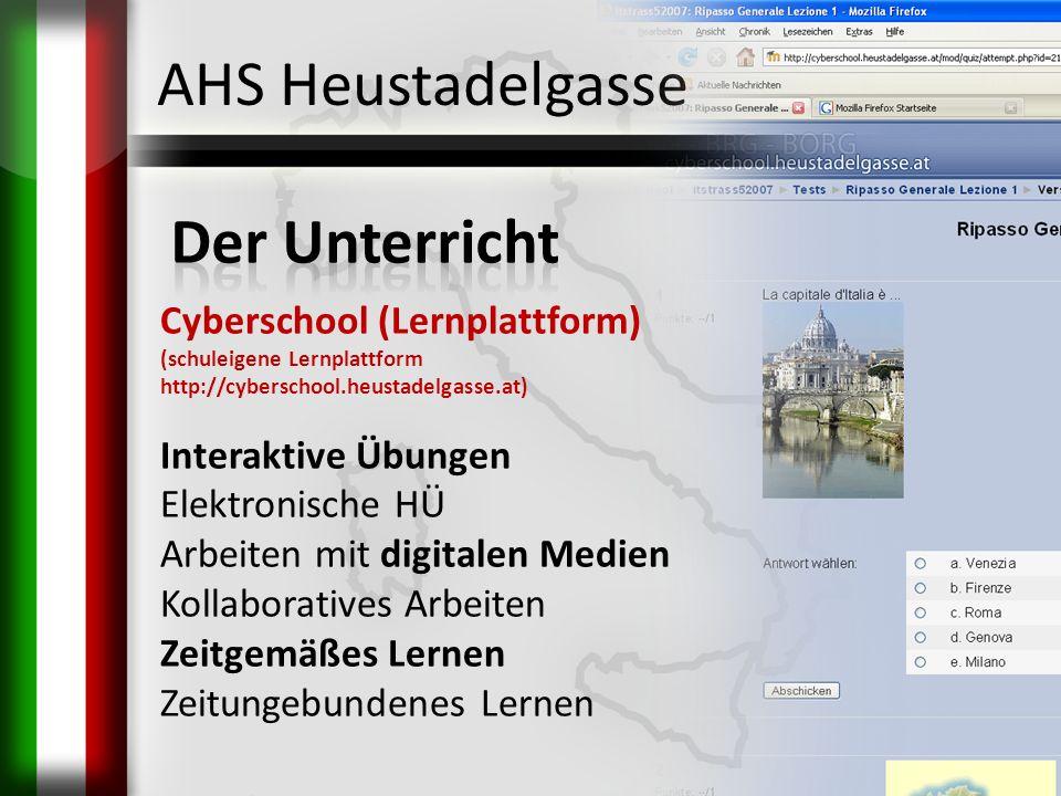 AHS Heustadelgasse Der Unterricht Cyberschool (Lernplattform)