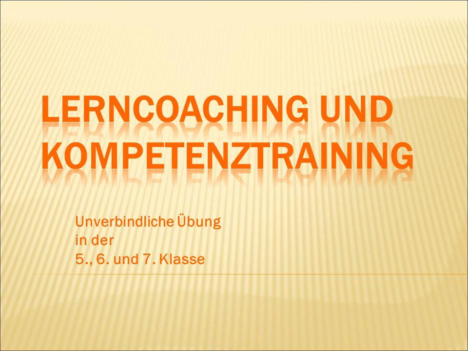 LERNCOACHING uND Kompetenztraining
