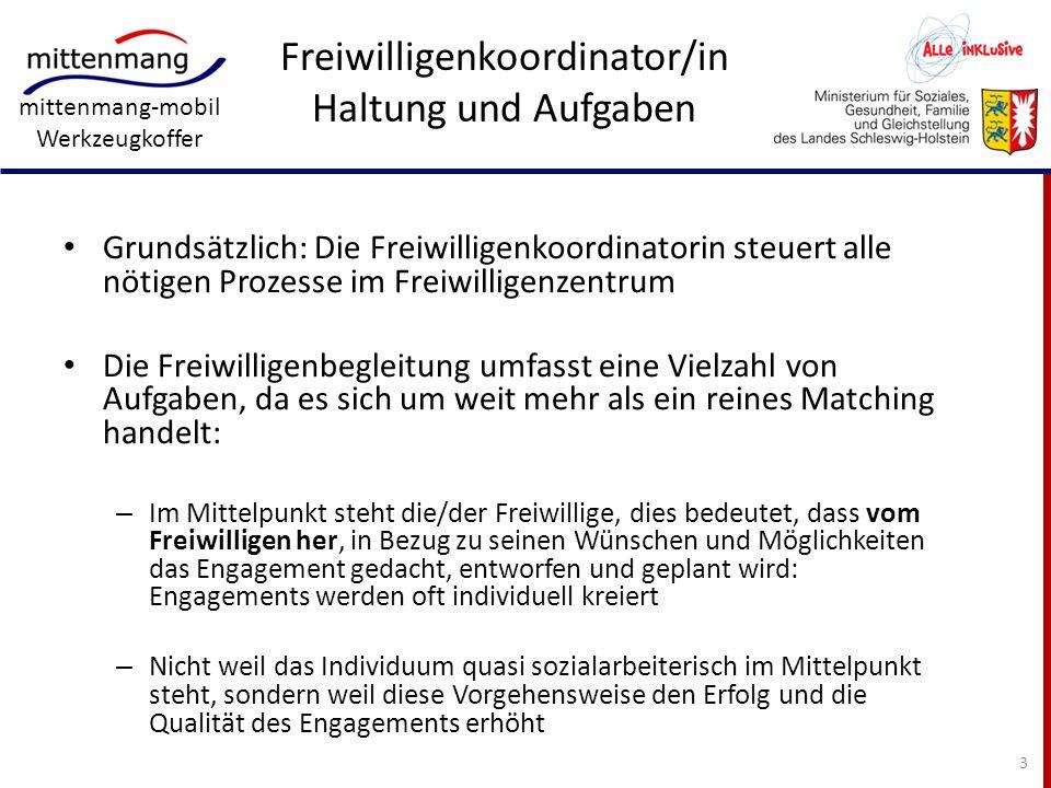 Freiwilligenkoordinator/in Haltung und Aufgaben