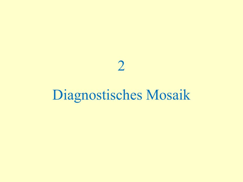 2 Diagnostisches Mosaik