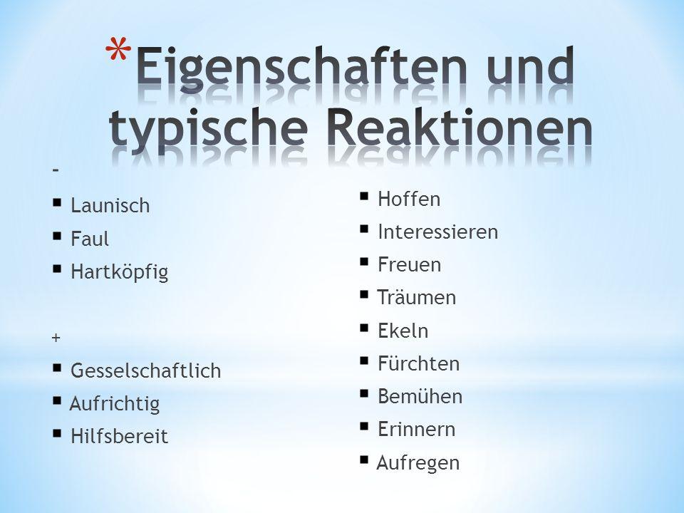 Eigenschaften und typische Reaktionen