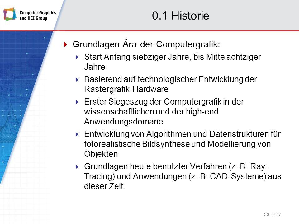 0.1 Historie Grundlagen-Ära der Computergrafik: