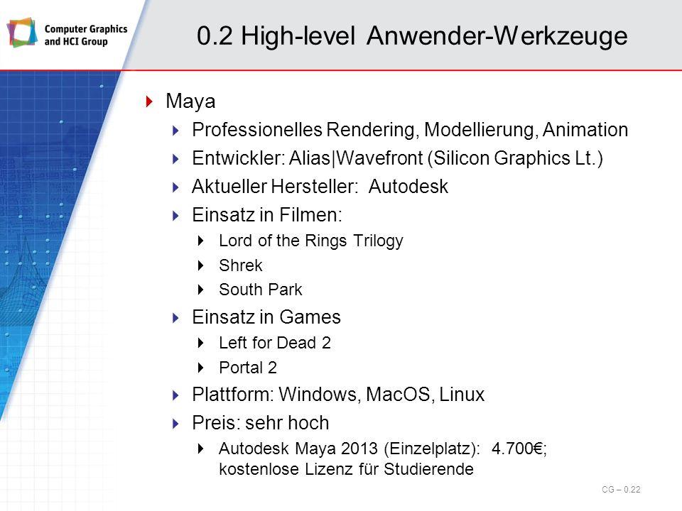 0.2 High-level Anwender-Werkzeuge