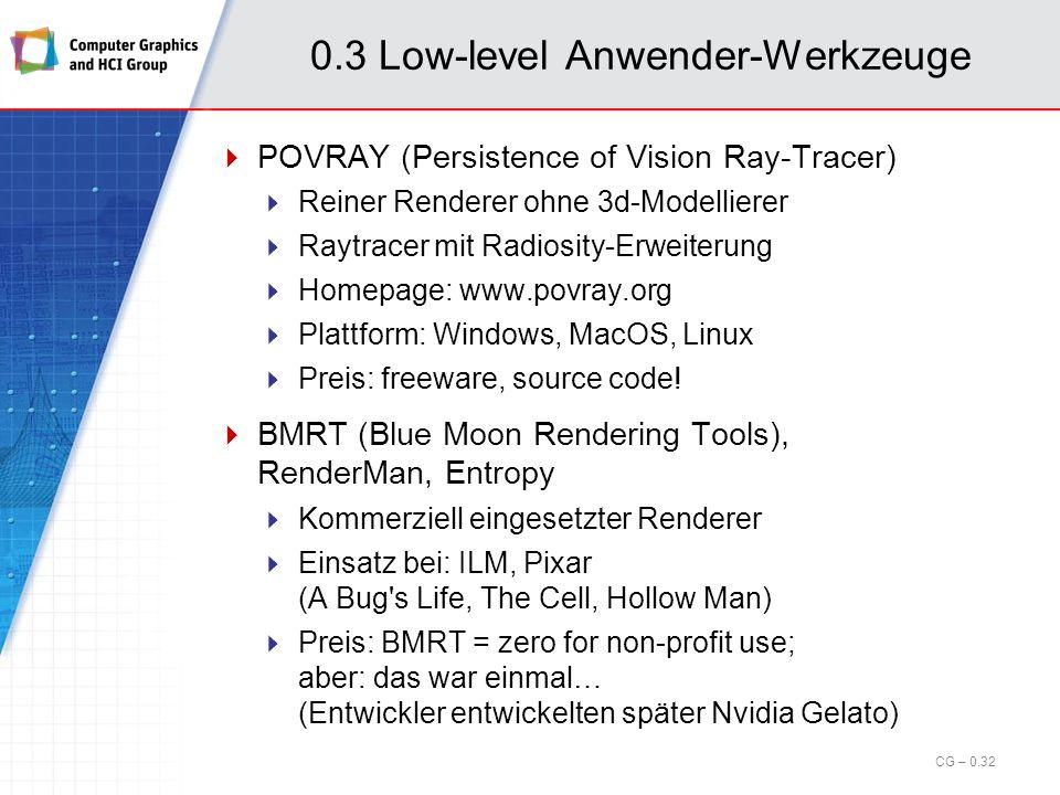 0.3 Low-level Anwender-Werkzeuge
