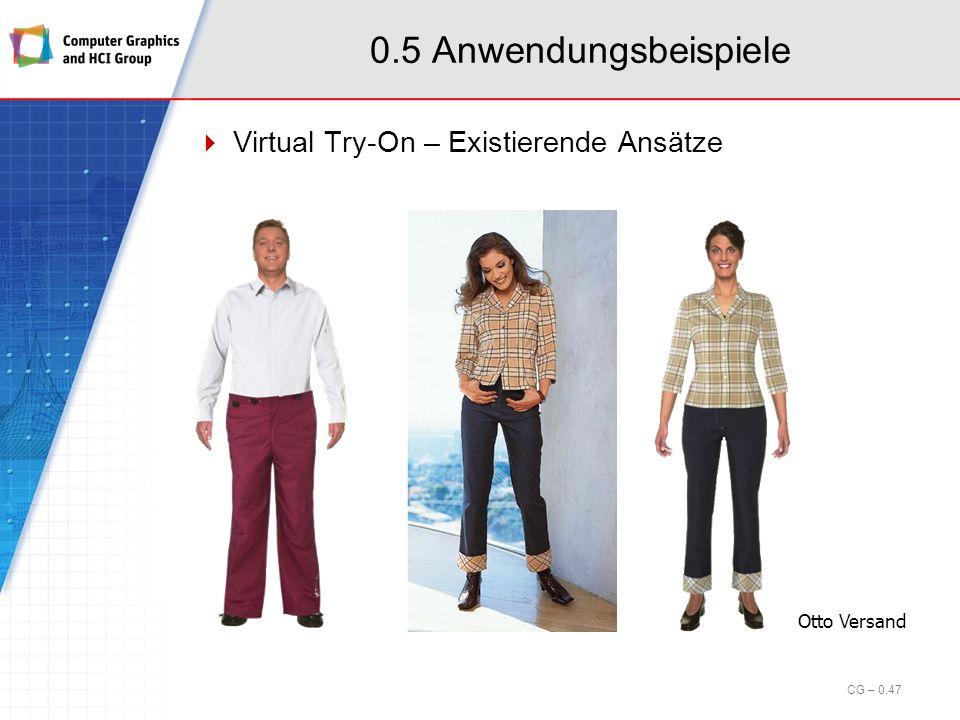 0.5 Anwendungsbeispiele Virtual Try-On – Existierende Ansätze