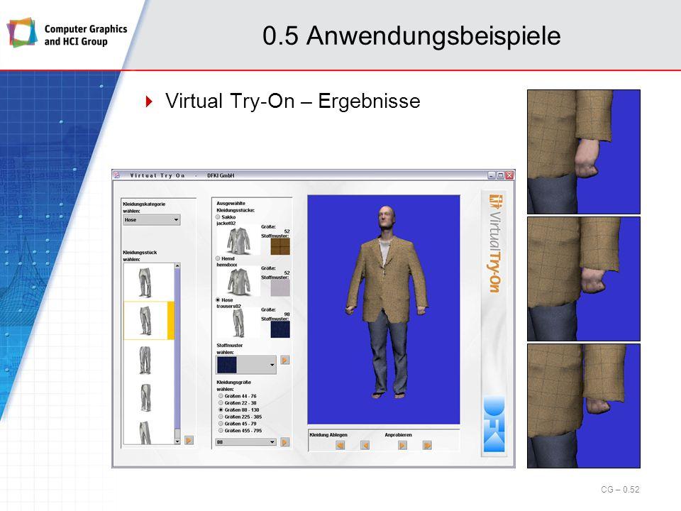 0.5 Anwendungsbeispiele Virtual Try-On – Ergebnisse