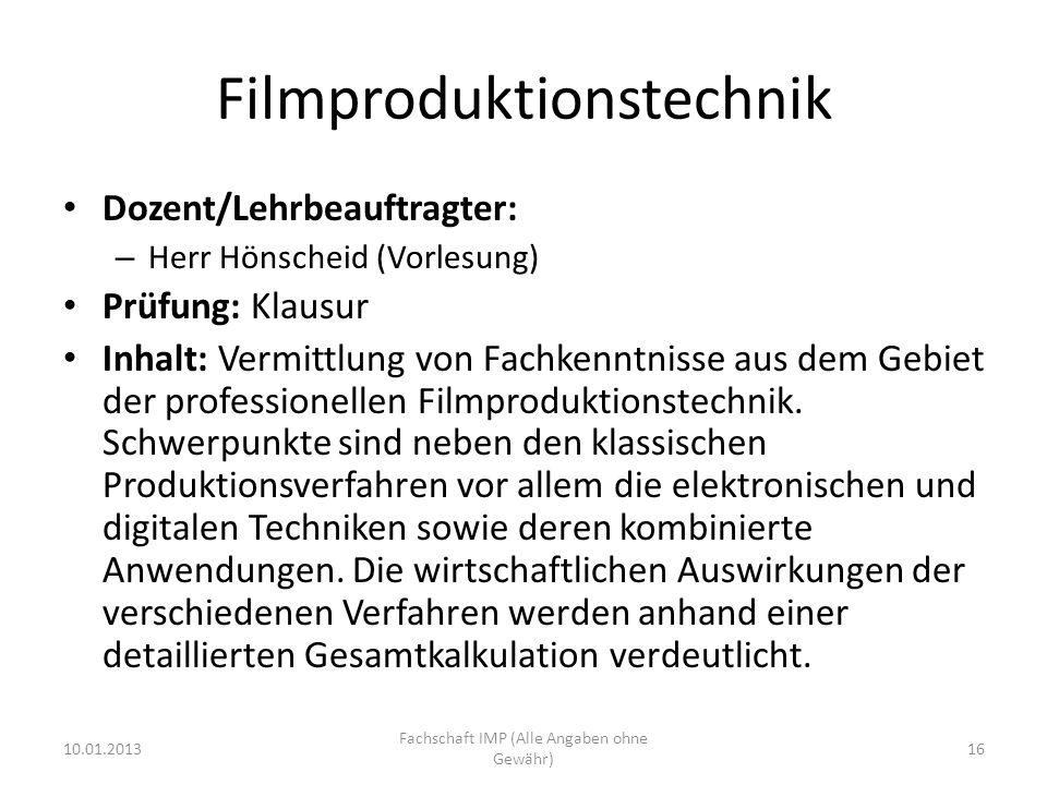 Filmproduktionstechnik
