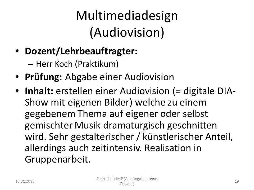 Multimediadesign (Audiovision)