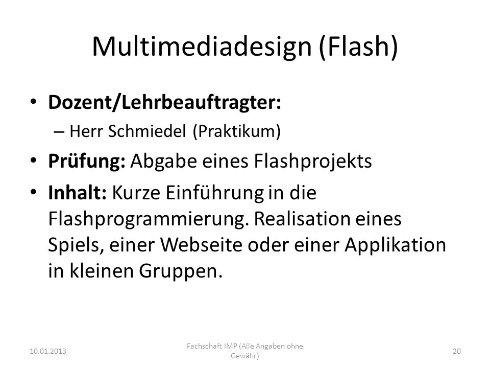 Multimediadesign (Flash)