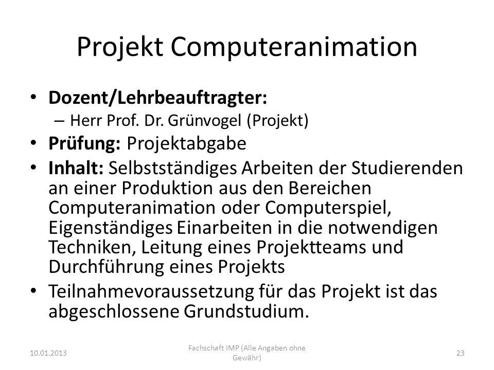 Projekt Computeranimation