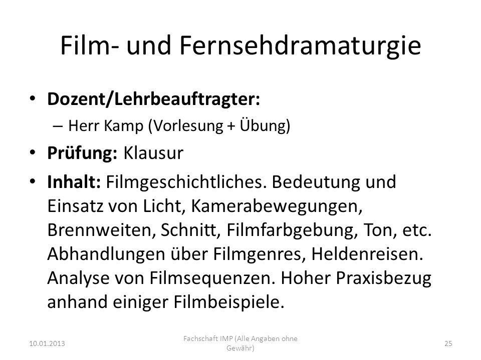Film- und Fernsehdramaturgie