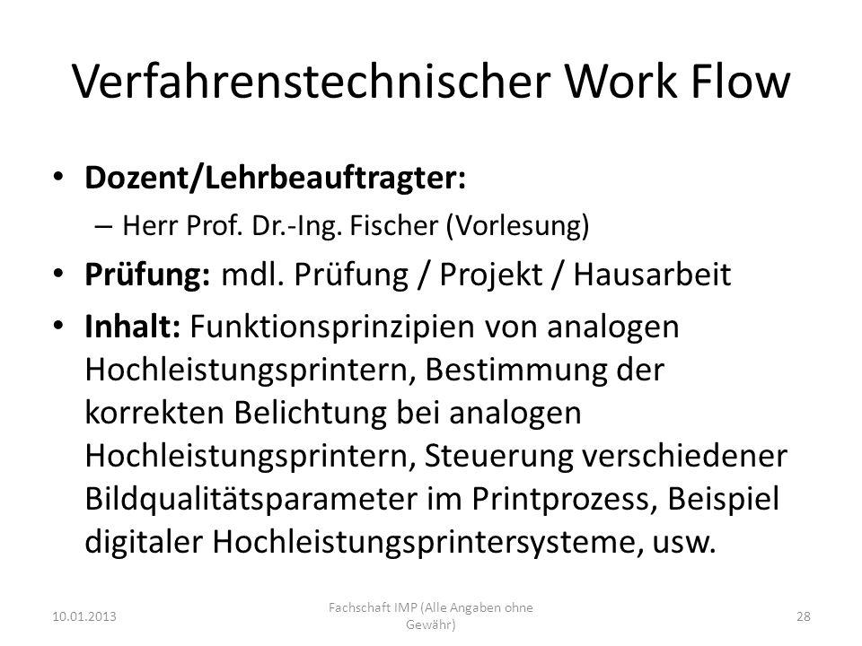 Verfahrenstechnischer Work Flow