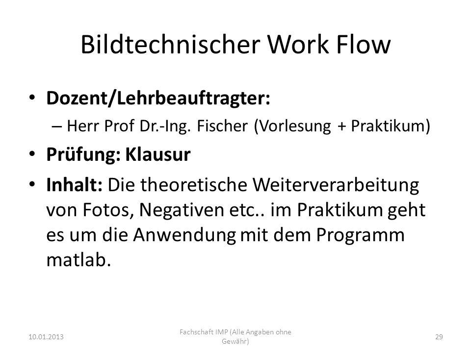 Bildtechnischer Work Flow