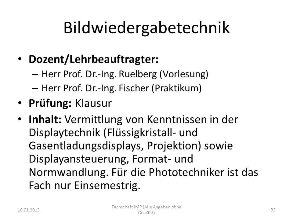 Bildwiedergabetechnik