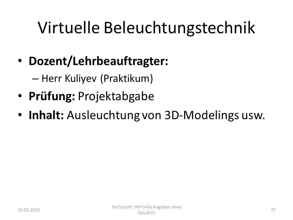 Virtuelle Beleuchtungstechnik