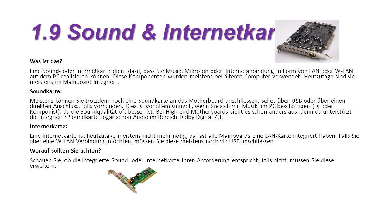 1.9 Sound & Internetkarte Was ist das