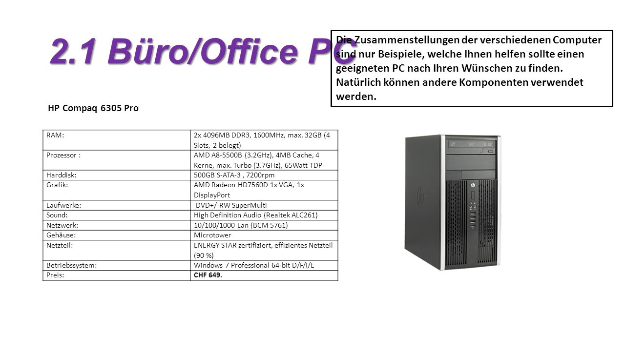 2.1 Büro/Office PC