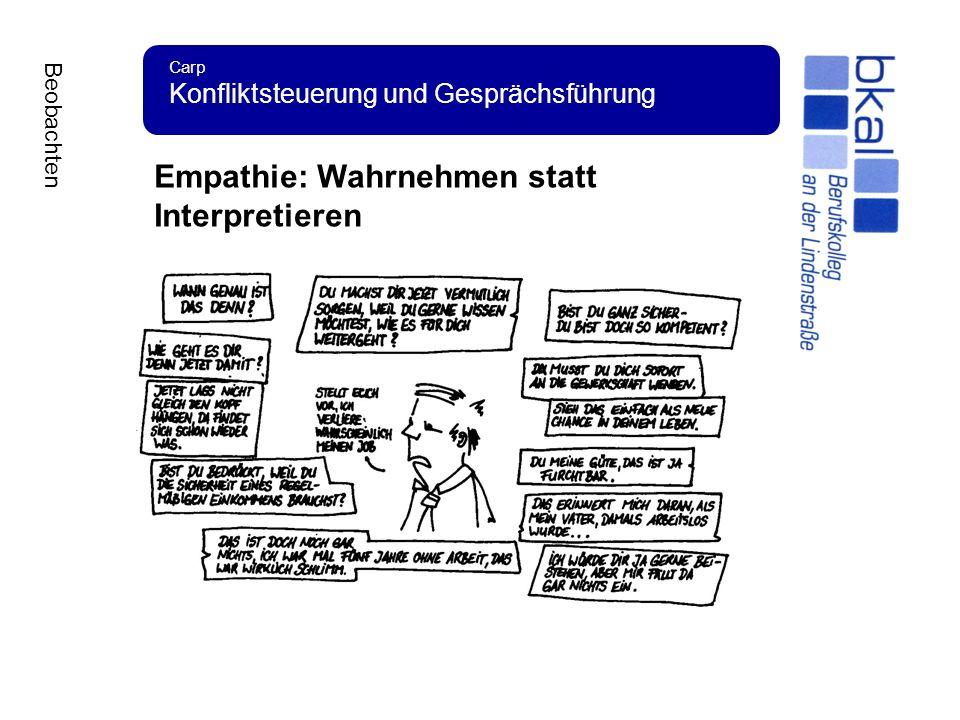 Empathie: Wahrnehmen statt Interpretieren