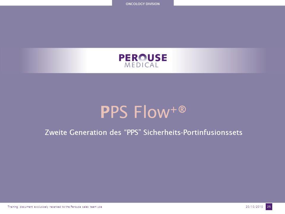 Zweite Generation des PPS Sicherheits-Portinfusionssets