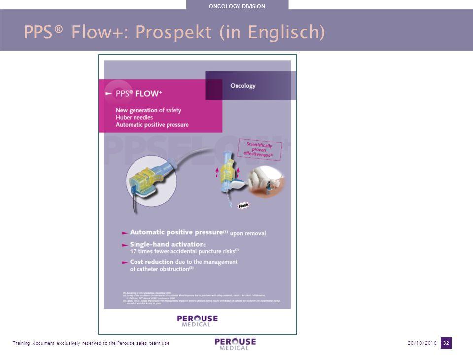 PPS® Flow+: Prospekt (in Englisch)