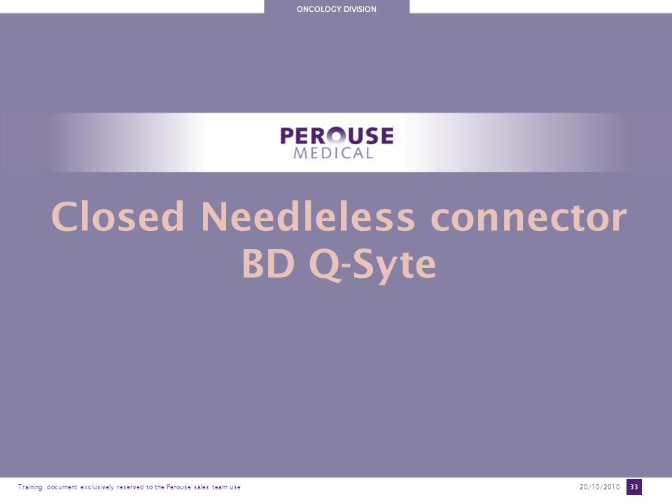 Closed Needleless connector BD Q-Syte