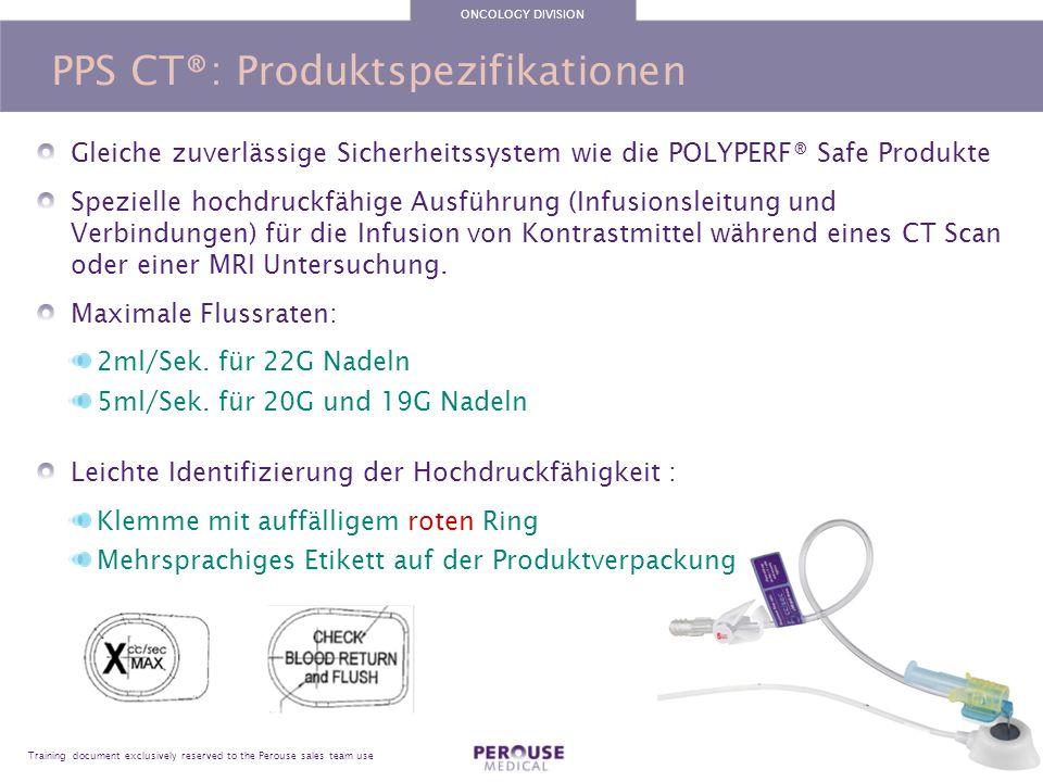 PPS CT®: Produktspezifikationen