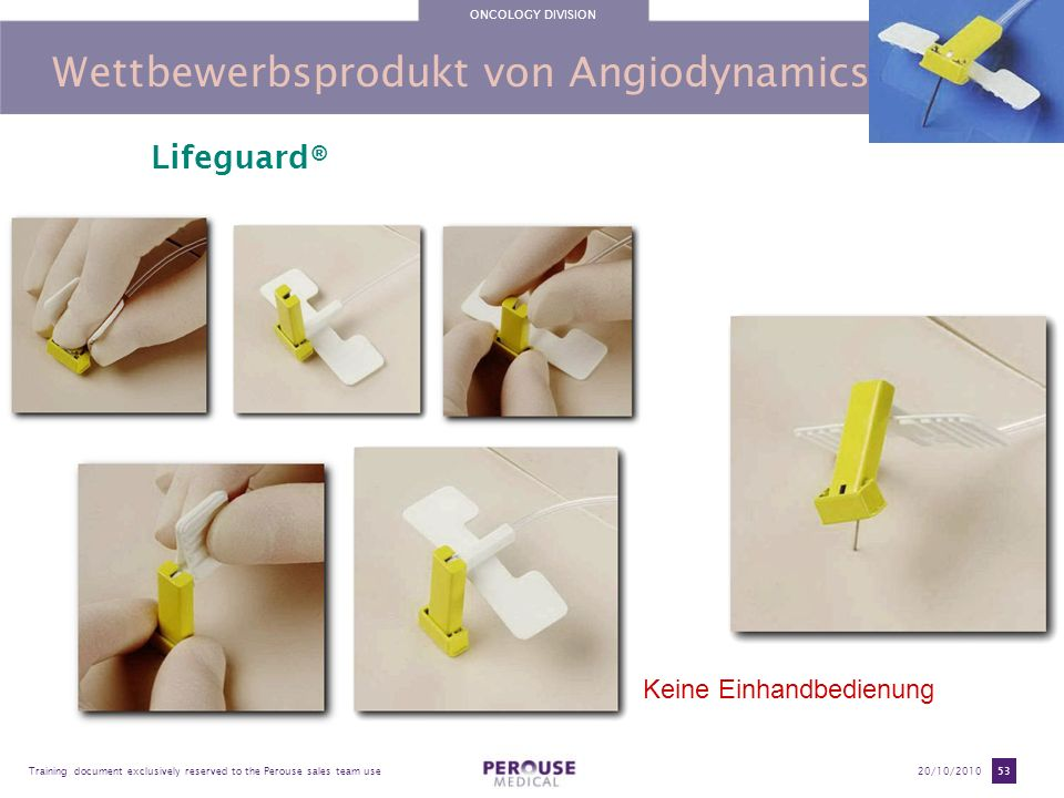 Wettbewerbsprodukt von Angiodynamics