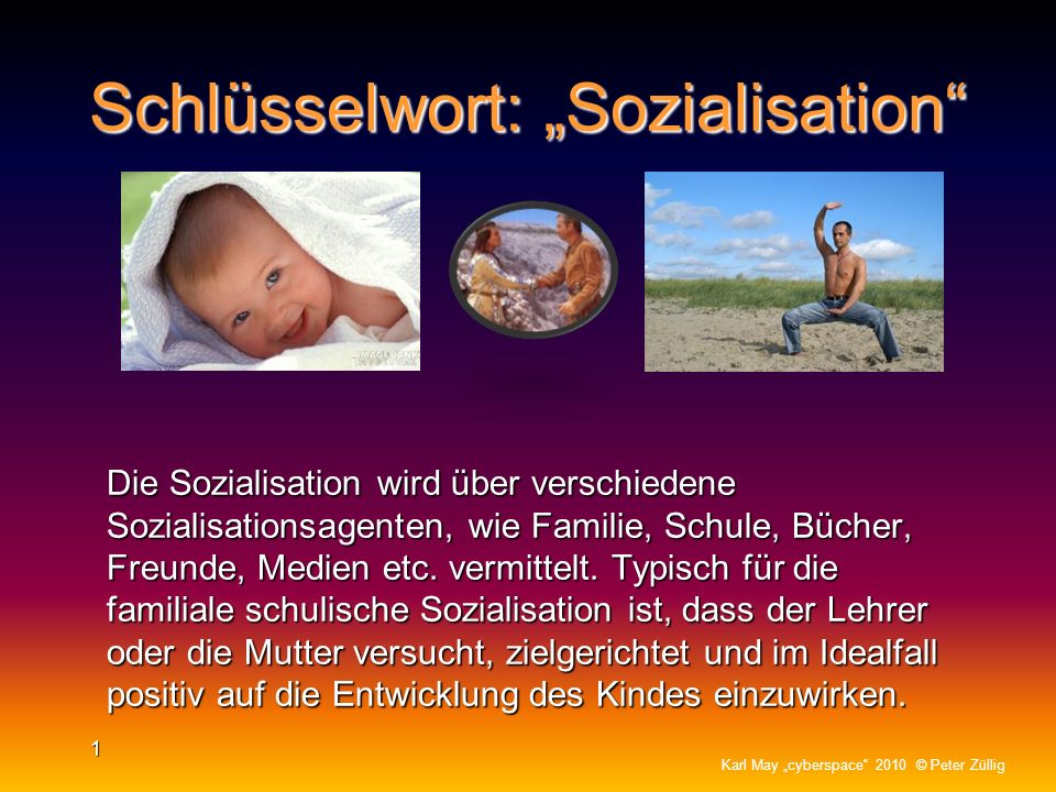 """Schlüsselwort: """"Sozialisation"""