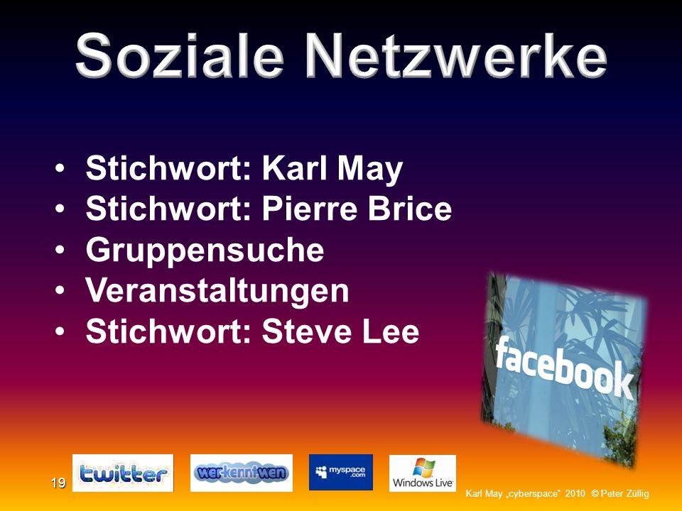 Soziale Netzwerke Stichwort: Karl May Stichwort: Pierre Brice