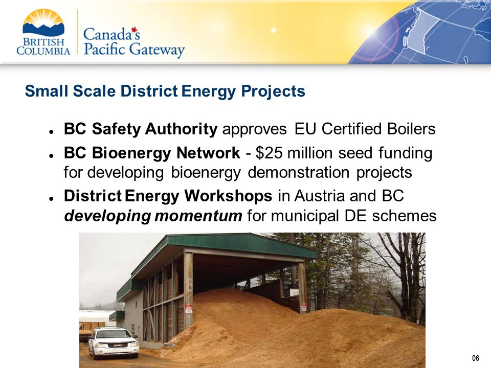 Small Scale District Energy Projects