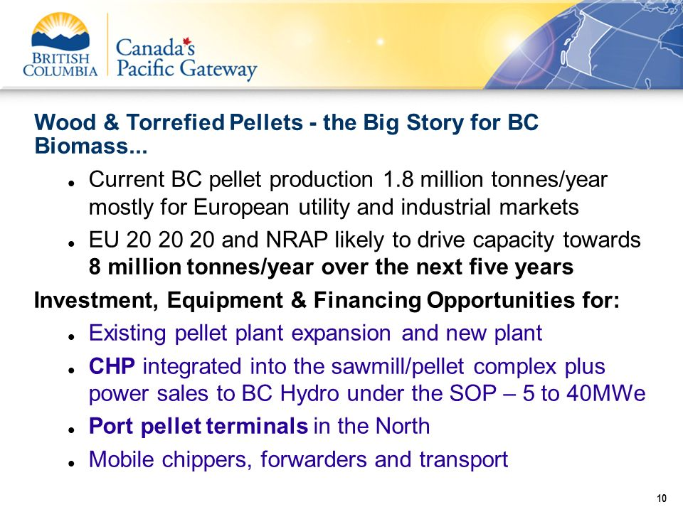 Wood & Torrefied Pellets - the Big Story for BC Biomass...