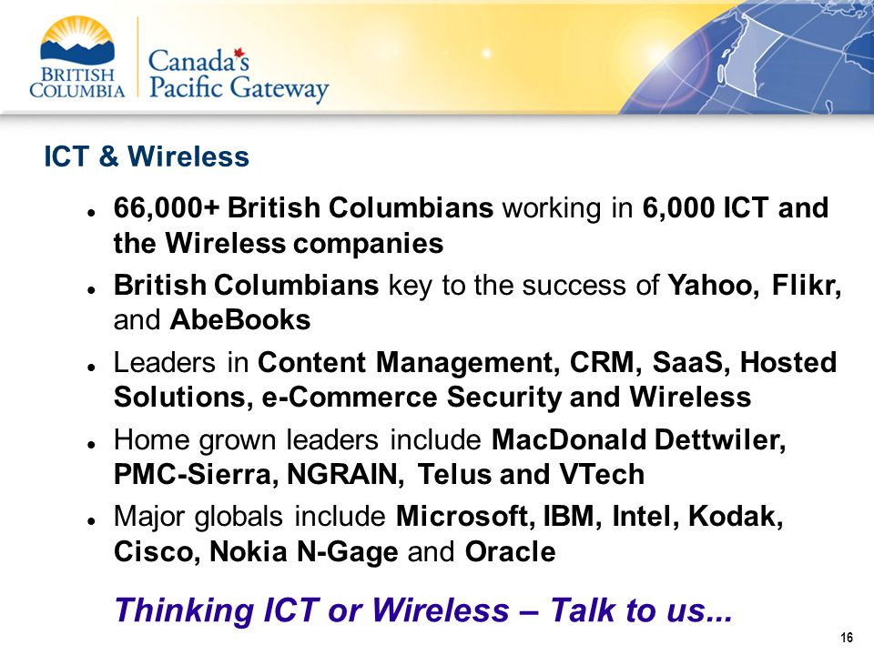 Thinking ICT or Wireless – Talk to us...