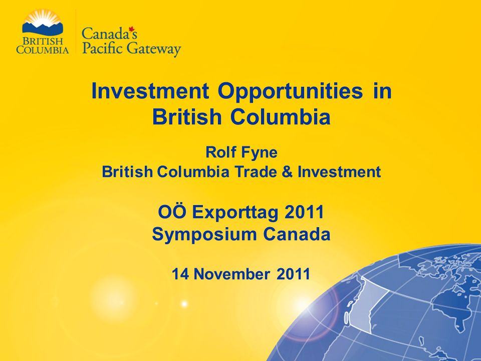 Investment Opportunities in British Columbia