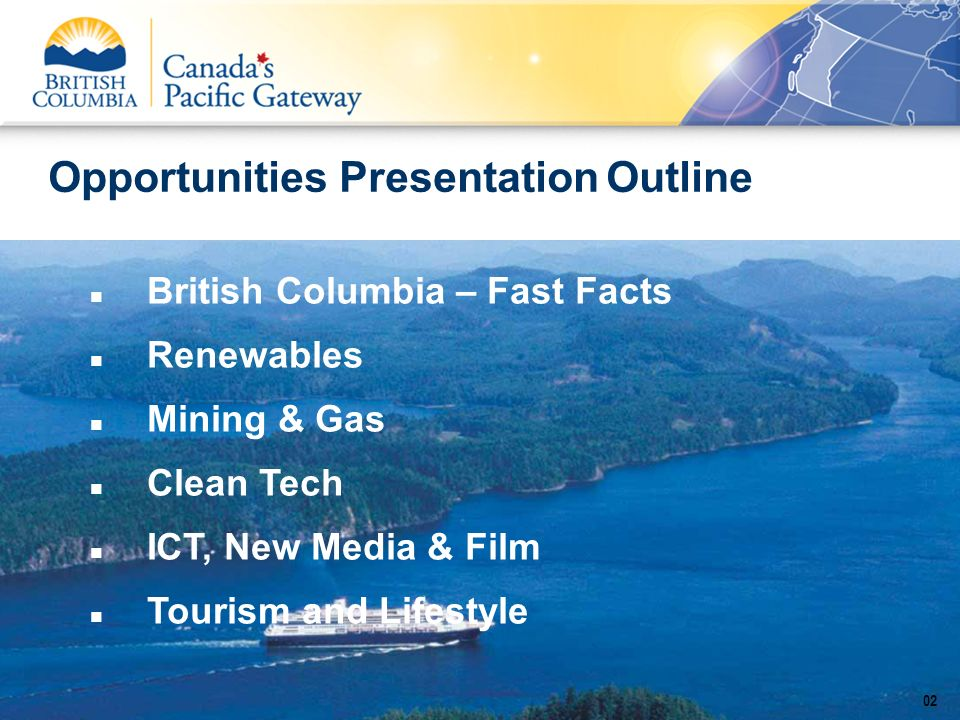 Opportunities Presentation Outline