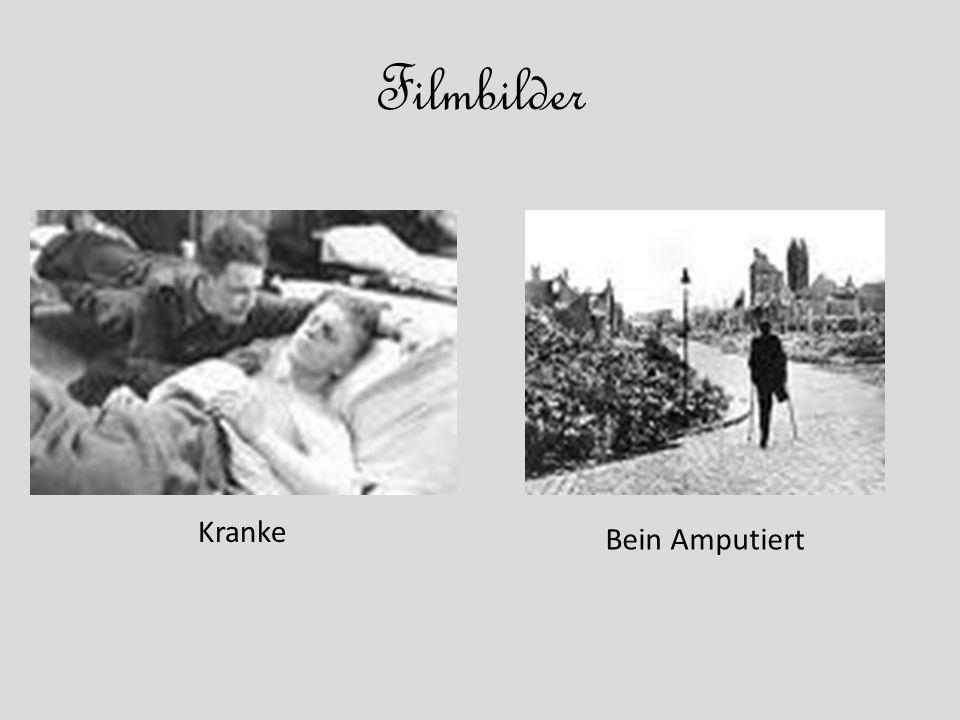 Filmbilder Kranke Bein Amputiert