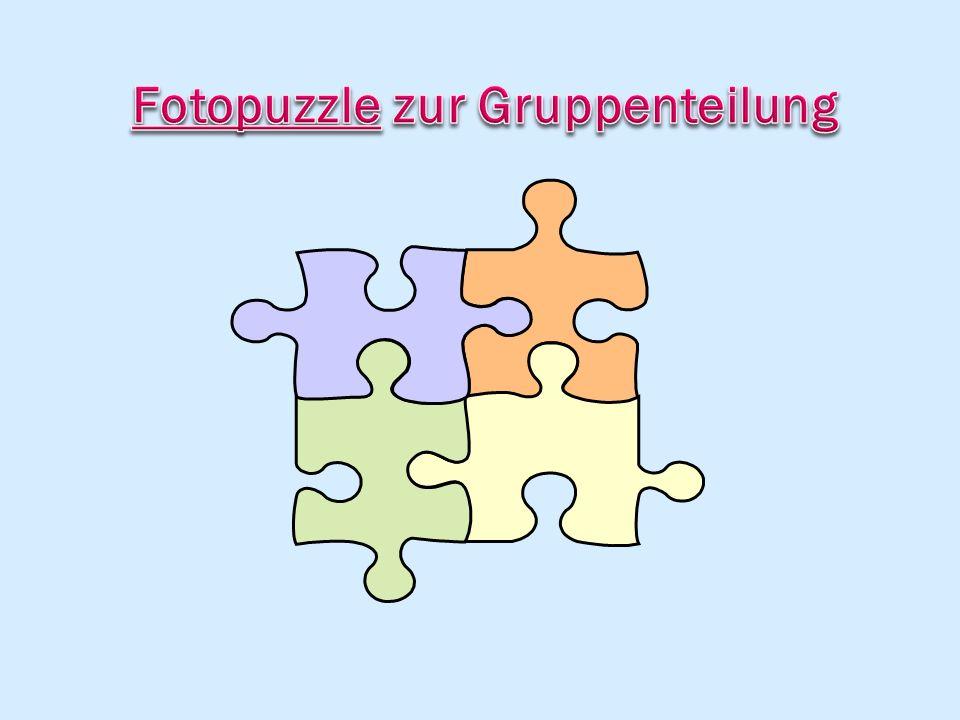 Fotopuzzle zur Gruppenteilung