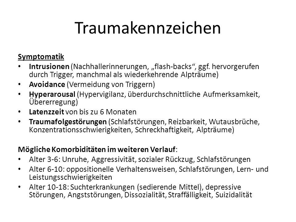 Traumakennzeichen Symptomatik