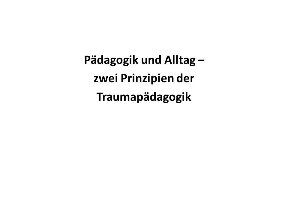Pädagogik und Alltag – zwei Prinzipien der Traumapädagogik