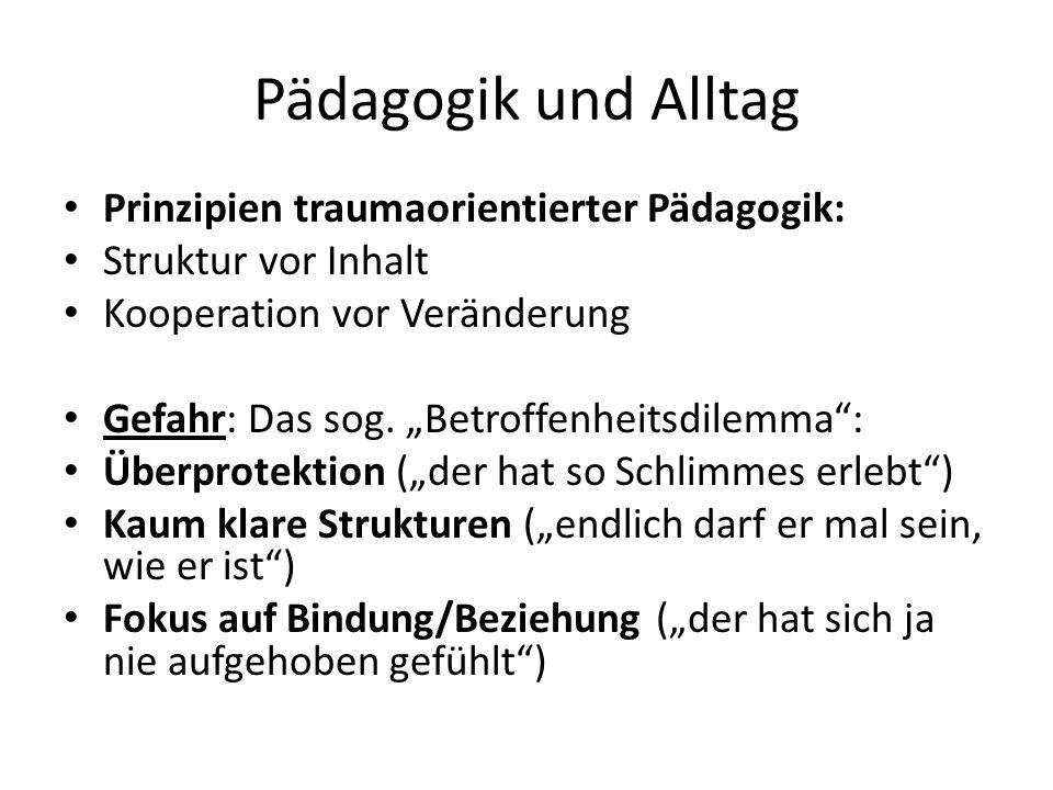 Pädagogik und Alltag Prinzipien traumaorientierter Pädagogik: