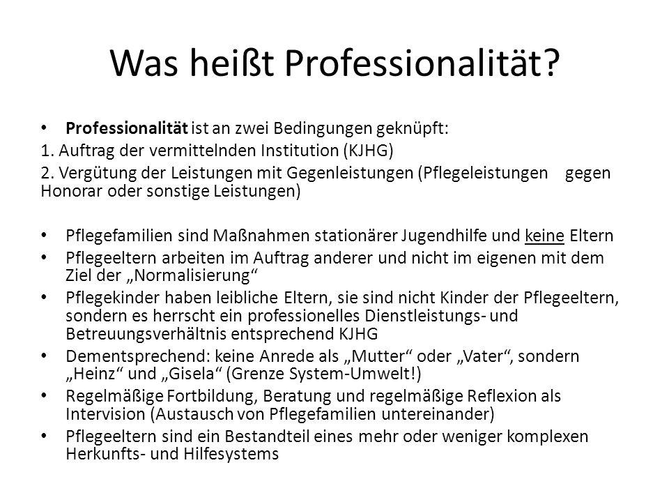 Was heißt Professionalität
