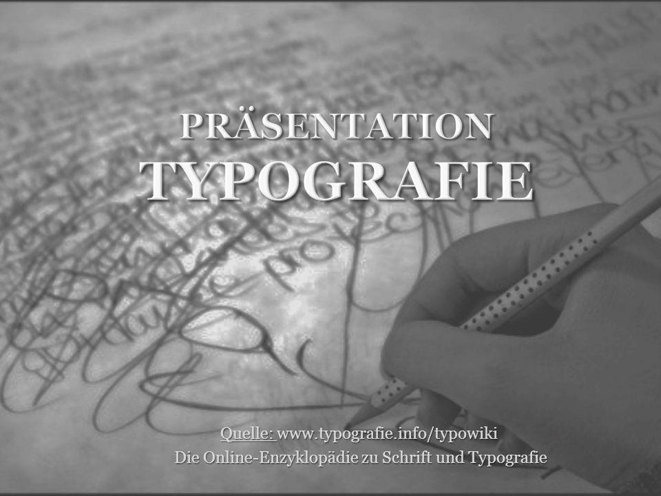 Präsentation Typografie