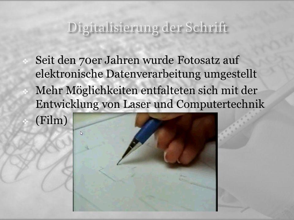 Digitalisierung der Schrift
