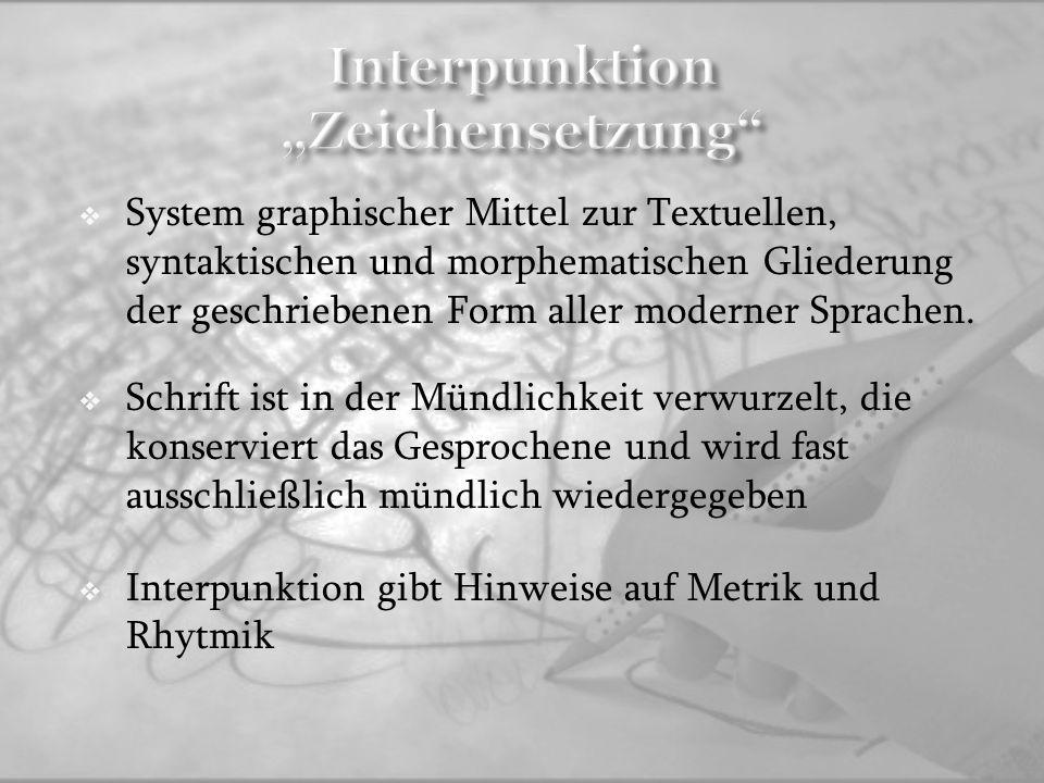 """Interpunktion """"Zeichensetzung"""