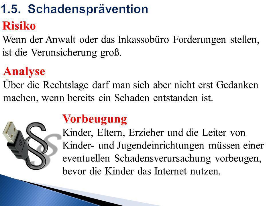 1.5. Schadensprävention Risiko Analyse Vorbeugung