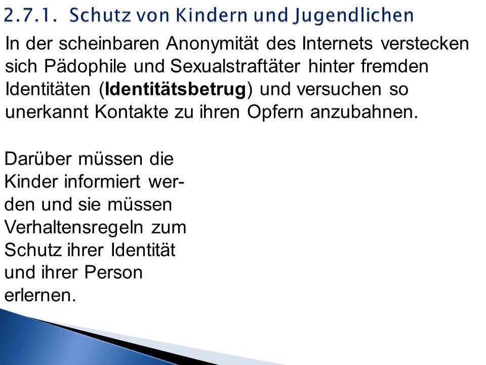 2.7.1. Schutz von Kindern und Jugendlichen