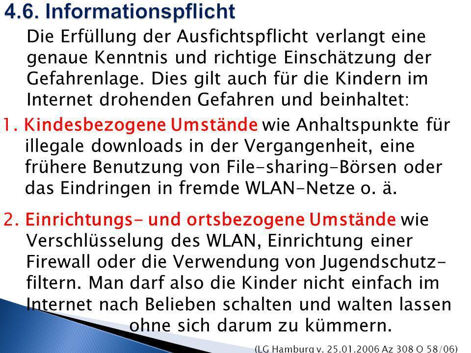 4.6. Informationspflicht