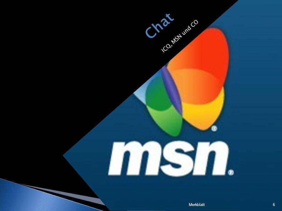 Chat ICQ, MSN und CO Merkblatt